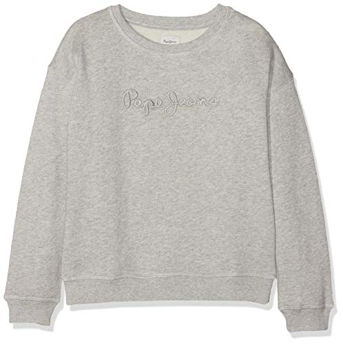 Pepe Jeans Crew Neck Girls Sweat-Shirt, Gris (Grey Marl 933), 11-12 Ans (Taille Fabricant:12) Fille
