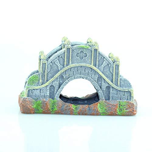 Decorazioni per acquario,Paesaggio creativo della resina del ponticello della decorazione del ponte dell'arco del paesaggio dell'acquario creativo