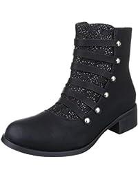 Cingant Woman Damen Stiefelette/High Heels/Elegante Damenschuhe/Halbhohe Stiefel/Ankle Boots/Khaki/Braun, EU 39