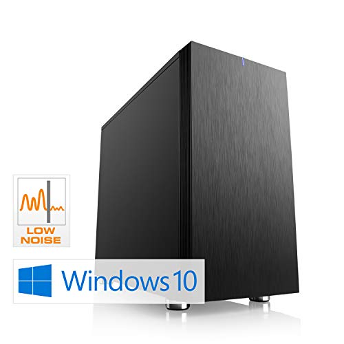 CSL Sprint D10082X (Ryzen 3) schallgedämmter Gaming PC inkl. Windows 10 - AMD Ryzen 3 2300X 4X 3500 MHz, 8 GB RAM, 240 GB SSD, MSI Mainboard, GeForce GTX 1050, GigLAN, USB 3.1, HD Audio, Windows 10
