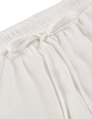 ZEARO Damen Casual Spitze kurz Hosen Hot Pants Sporthose Strand Running Gym Yoga Shorts Hosen Weiß