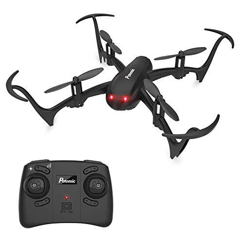 Potensic Mini Drone D10 Telecomandato Funzione di Sospensione Altitudine,Un Tasto di Decollo/Atterraggio,360 Gradi Flips,modalità Senza Testa