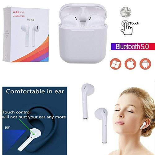 i10 Tws  Mini Auriculares Inalámbricos Bluetooth 5 0 con micrófono  Integrado + Caja de Carga Incluido, para Android, iOS  Auriculares  Deportivos
