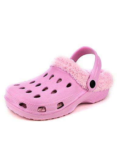 Cendriyon Sabots Plastiques Fourrées Pink REMONDE Chaussures Femme