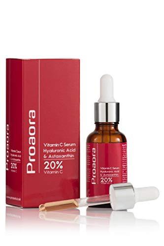Proaura Vitamin C Serum 20% mit Astaxanthin Ein starkes Antioxidationsmittel der Natur, Frownies