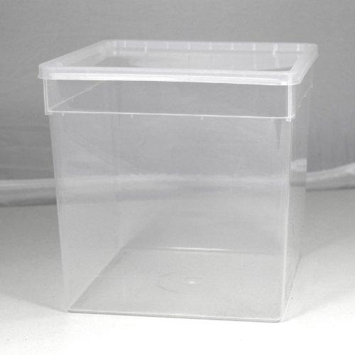 BraPlast Dose 5,8 Liter 18,5 x 18,5 x 19,0 cm - transparent mit transparentem Deckel / Kunststoff Stapelbox