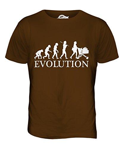 CandyMix Einkaufen Evolution Des Menschen Herren T Shirt Braun