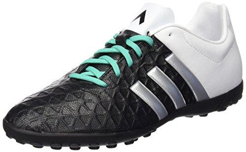 adidas Ace 15.4 Tf J, Chaussures de Football Mixte Bébé, 32 EU Multicolore - Negro / Plateado / Verde / Blanco (Negbas / Plamat / Menimp)