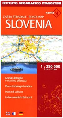 Slovenia. Carta stradale 1:250.000 (Carte stradali estero)