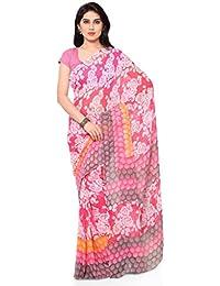 Vaamsi Chiffon with Blouse Piece Saree (Empress1003_Multicoloured_One Size)