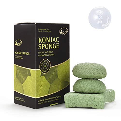 Esponja Facial & Corporal Kaiercat® Konjac 100% Natural