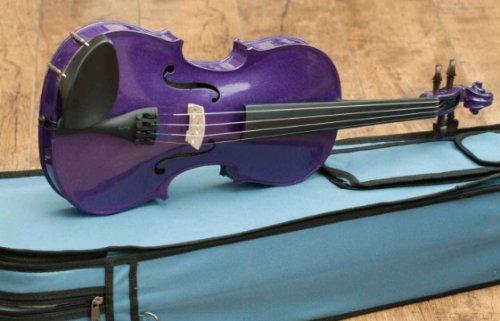 Stentor-Violino da Arlecchino, colore: viola scuro, 4/4 completo (accordato)
