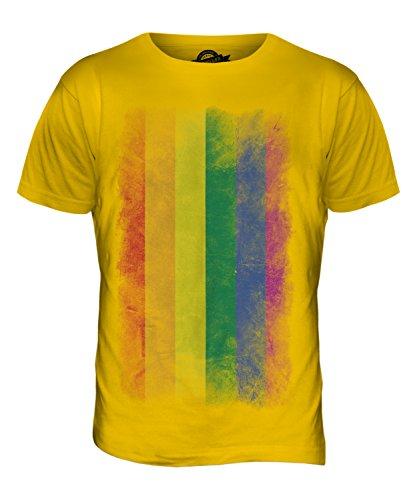 Gay Pride Verblichen Flag - Herren T-Shirt T-shirt Top - Karamellbonbon, Herren, XXX-Large