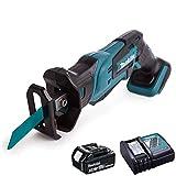 Makita DJR185Z 18V Cordless Mini Reciprocating Saw With 3.0Ah BL1830 Battery & DC18RC