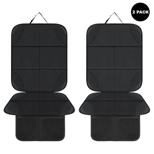 Aoafun 2 pack protezione sedile auto bambini,coprisedile bambini,per proteggere la tappezzeria in pelle del veicolo,adatto per isofix - antiscivolo, facile da pulire e fissare(neri)