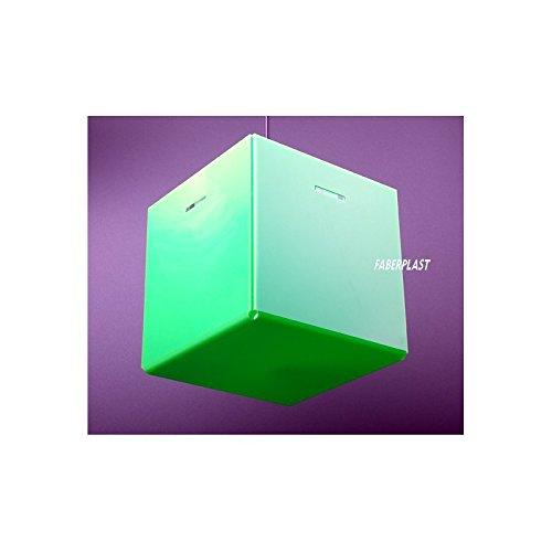 Faberplast Lampe de techno, vert, 25 x 25 x 25 cm