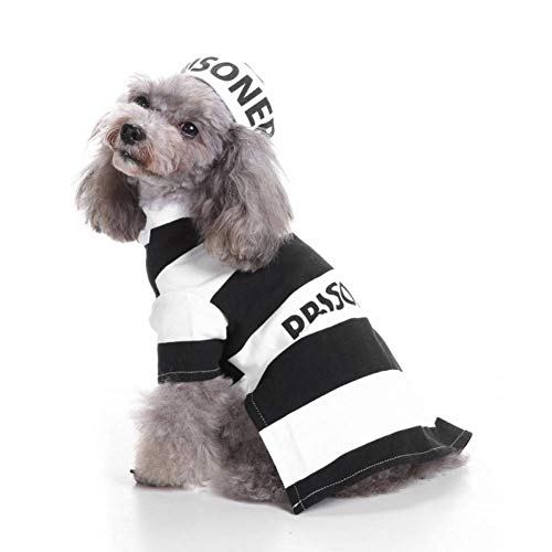 FGDSSE Halloween Hund Haustierkleidung Gefängnis Hund Kostüm & Hut Kostüm Serie St. Hound Dog Kostüm