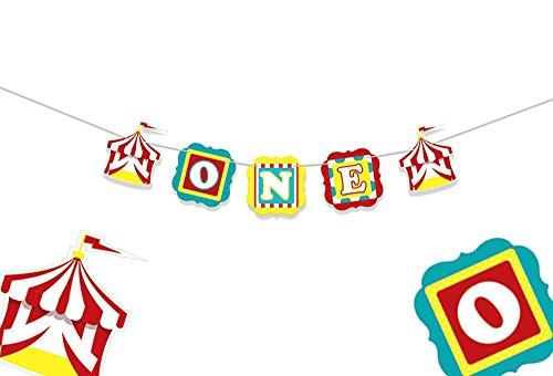 val Hochstuhl Banner-Circus Geburtstag-Circus Party Supplies-1. Geburtstag Dekorationen-ersten Geburtstag-One Hochstuhl Banner-1. Geburtstag Banner-Party Dekorationen ()
