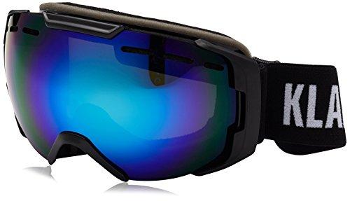 Klarfit Snow View Skibrille Snowboardbrille REVO Coating Halbrahmen (verspiegelte Oberfläche, direkt belüfteter Rahmen, kratz- und bruchfestes Kunststoffglas) schwarz