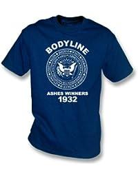 Inglaterra Bodyline incinera la camiseta 1932 de los ganadores Xx-Grande (rojo)