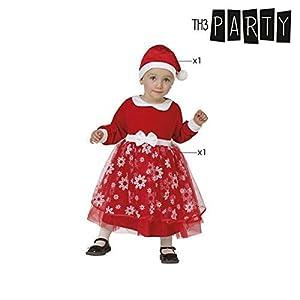 Atosa-32216 Atosa-32216-Disfraz Mamá Noel niña bebé-Talla Navidad, Color Rojo, 0 a 6 Meses (32216
