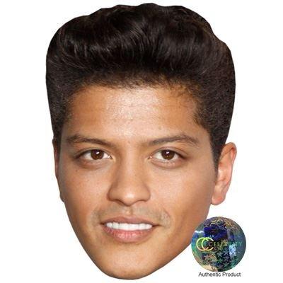 Bruno Mars Maske aus Pappe