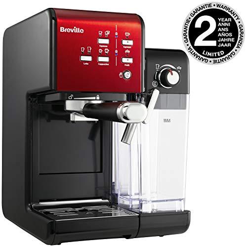 Breville VCF109X-01 Prima Latte II Kaffeemaschine, Schwarz/Rot