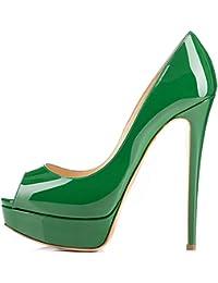 gran selección de d955b cfba3 Amazon.es: zapatos verdes de fiesta - 42 / Zapatos para ...
