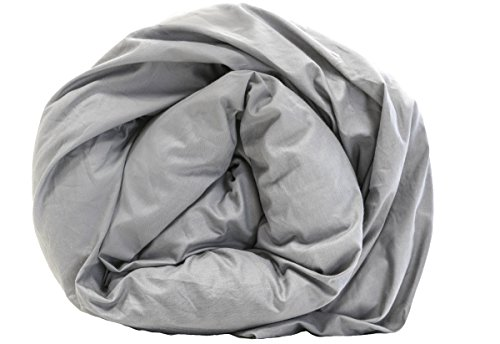 Senso-RexHochwertige Gewichtsdecke für Erwachsene, warme Schwerkraft-Decke, 135x 200cm., 100 % Baumwolle, grau, 6 kg - 13.2 lb