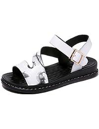 KJJDE Damen Riemchen Wedges Sandalen JZTC 8991 Zarte Schnalle Keilabsatz High Heels Schuhe Bequem 2.8CM