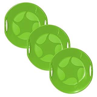 AlpenGaudi Snow UFO Green Sledge- Pack Of 3