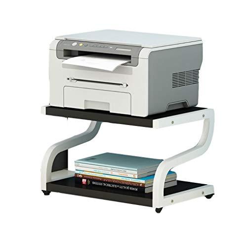 DUOER-Regale Hölzerner Desktop-Drucker/Fax-Ständer 2-stufige Arbeitsbereich-Aufbewahrungsmaschine mit Ablagefach (Color : A) -