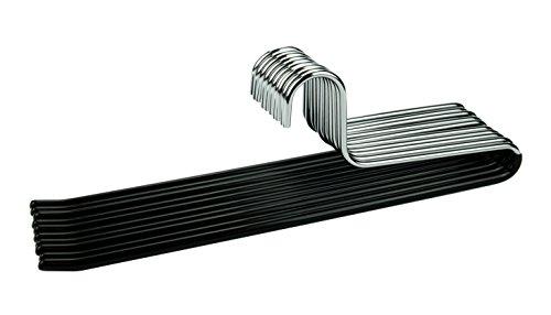 CORTEC 10 x Hosenbügel aus Metall mit Rutschfester Gummibeschichtung in Schwarz