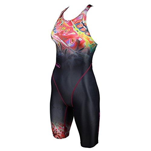 ZAOSU Damen & Mädchen Wettkampf-Schwimmanzug Z-Peace | Sport Badeanzug mit Bein, Größe:176/36
