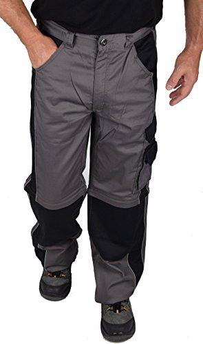 IWEA Stabile Profi Arbeitshose Bundhose Berufshose Handwerker Cargohose Arbeitskleidung IW077, ZIP, 54