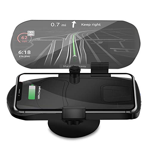 HUD Head-up-Display, Universal-Handyhalter für Auto-Dash-Mount, Fahrzeug-HUD-Smartphone-Halter für iPhone-Android-Handys Dash Mount Display