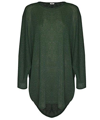 STYLISH WOMEN Damen Pullover Gr. 50-52/XXXL, flaschengrün