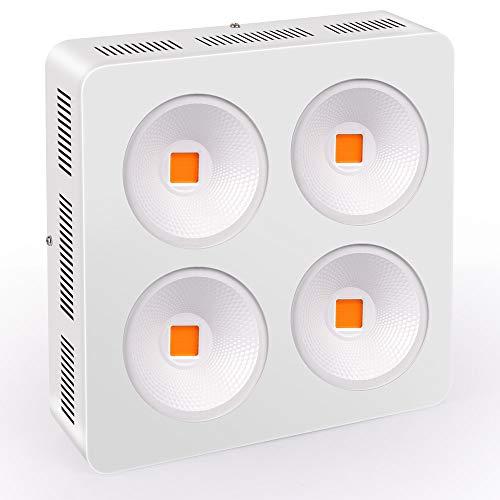 Roleadro Grow Led Pflanzenlicht 1200w COB LED Pflanzenlampe Vollspektrum für Interior Gewächshaus Planzen Blumen Gemüse und Wachstum(320 * 320 * 83mm)