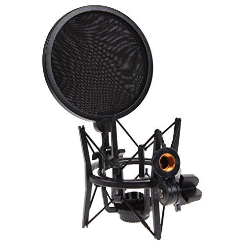 Preisvergleich Produktbild Mikrofon Mic Shock Halter-Standplatz Integrierte Pop Pro Audio Studio filte