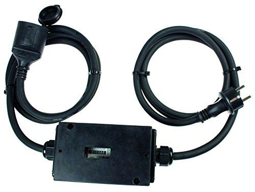 as - Schwabe Mixo Stromzähler 230V, MID geeicht mit 2 × 1,5 m Leitung, 1 Stück, 60748