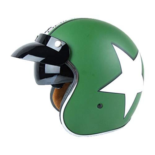 Erwachsenen Retro Harley Motorradhelm Eingebaute Sonnenbrille 3/4 Jethelme Männer Frauen Universal Lightweight Simpson Helm Racing Safety Caps