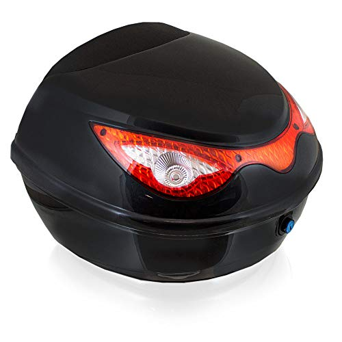 BITUXX Topcase Motorradkoffer Helmbox Für Motorrad Roller Mofa Quad AVT aus ABS 22L