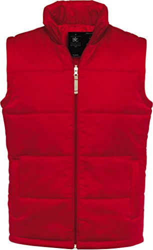 (B&C - gefütterte Weste 'Bodywarmer Men' L,Red)