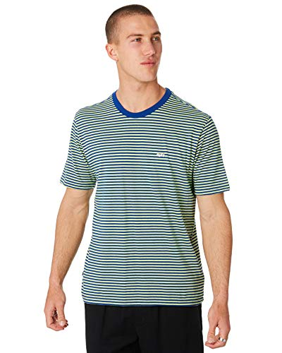 Obey Herren APEX Knit Tee S/S T-Shirt, Surf Blue Multi, Groß -