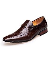 Jsix Zapatos de Cordones Derby para Hombre (43, Marrón)