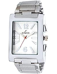 Xemex White Dial Stainless Metal Chain Analog Watch For Men