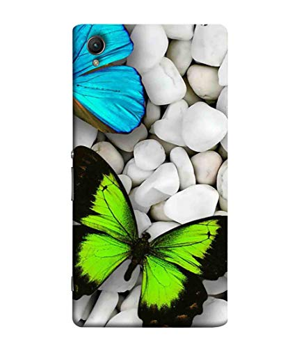 Printfidaa Butterflies in White Rocks Background Printed Designer Hard Back Case for Sony Xperia Z3 Plus, Sony E6553 Back Cover