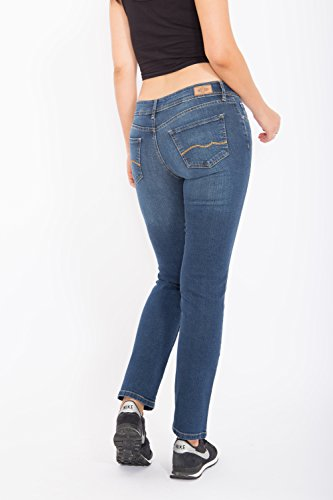 WAY OF GLORY Jeans Britney regular fit & straight leg - mid blue wash Britney Damen Regular Fit Casualmode 1001270 Mittelblau