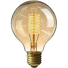 Charmant KINGSO E27 Edison Ampoules à Incandescence G80 60W 220V Globe Lampe Filament  Vintage
