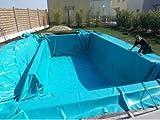PVC Teichfolie 6 x 8 m Blau ( türkis ) Gartenteichfolie Folie Teich Schwimmteich 6,99 Euro / m²